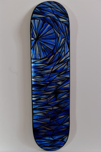 Skateboard deck Acrylic on skateboard $250.
